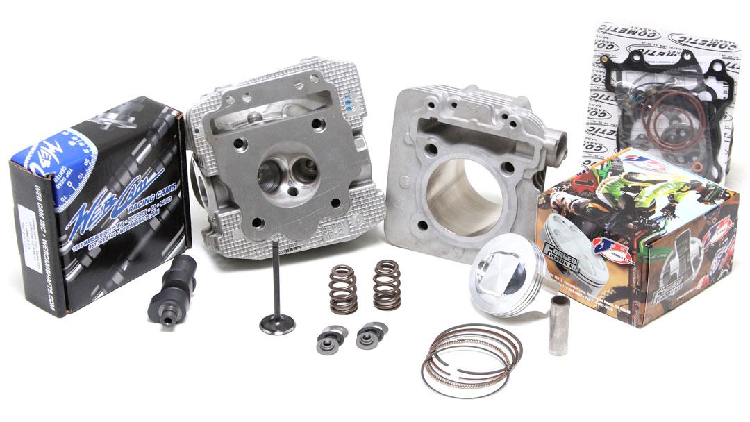 Yamaha Raptor 50 Cylinder Head : Ct racing s raptor motor package high output kit